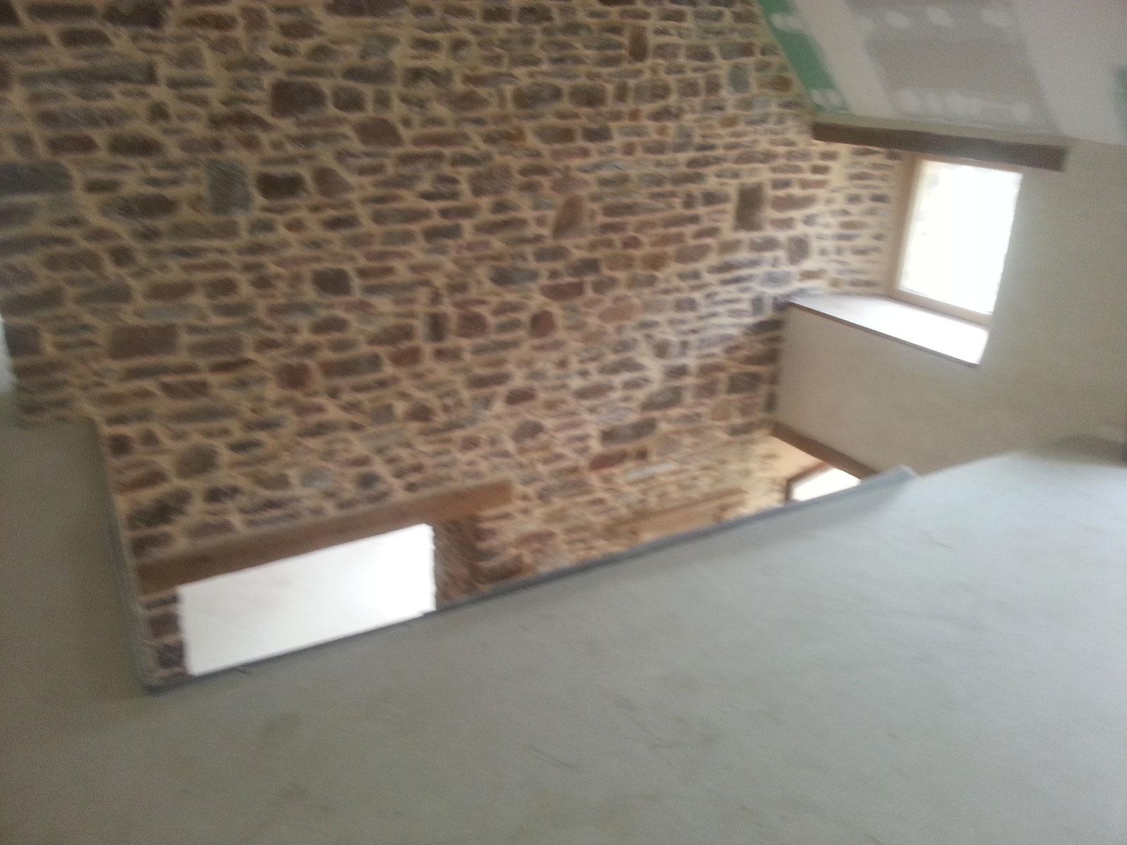Mur Pierre Apparente Intérieur maçonnerie pierre intérieure